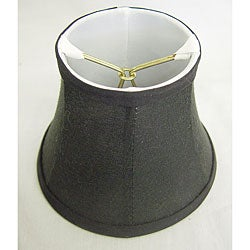 Round Silk Black Lamp Shade - Thumbnail 0