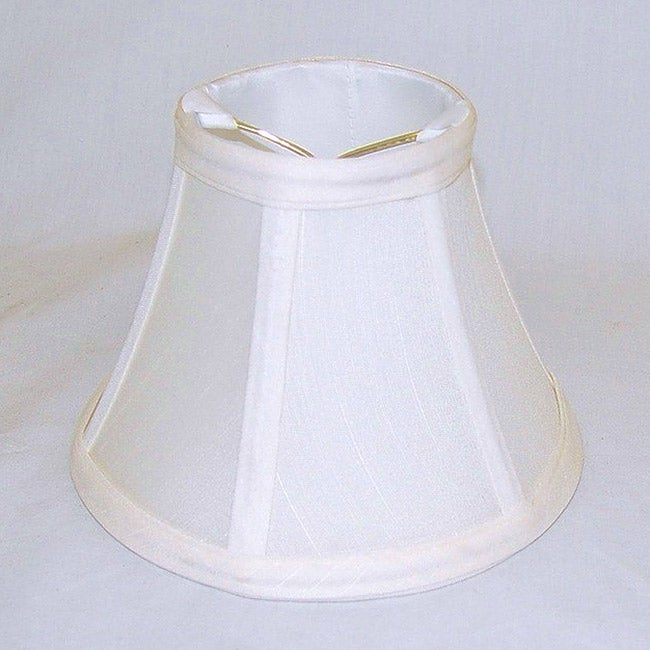 Round Silk Off-white Lamp Shade