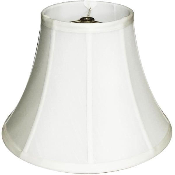 Stylish Round Ribbed Off-White Lamp Shade