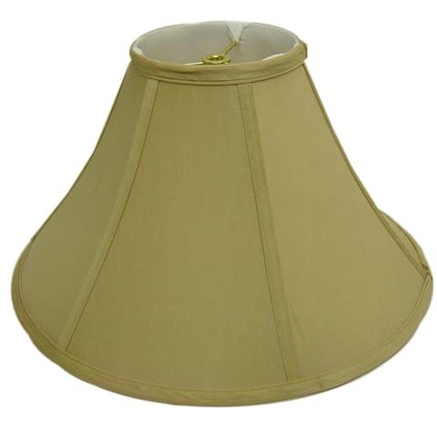 Round Tan Silk Lamp Shade