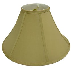 Round Tan Silk Lamp Shade