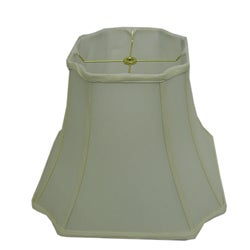 Square Cut-corner Off-white Silk Lamp Shade
