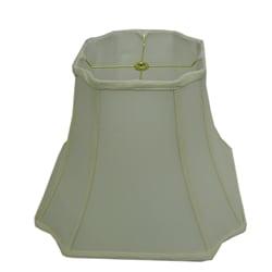 Square Cut-corner Off-white Silk Lamp Shade - Thumbnail 0