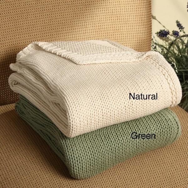 525 America Cotton Knit Throw