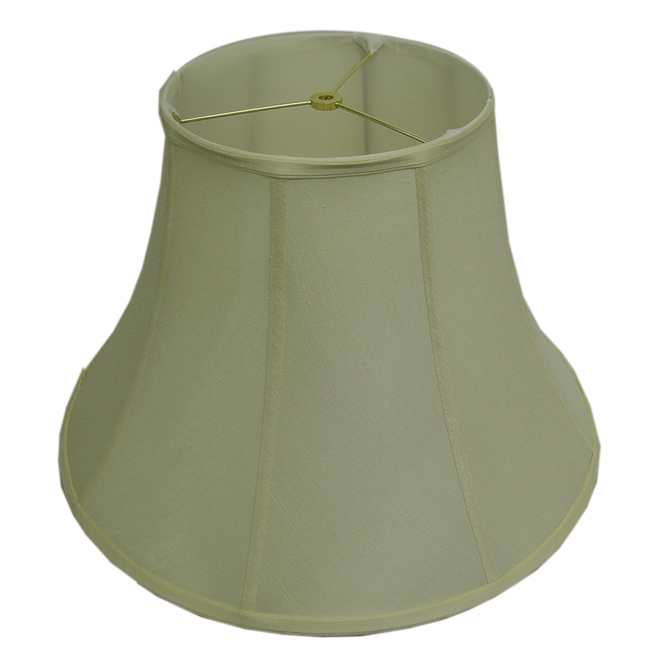 Round Ribbed Off-white Silk Lamp Shade