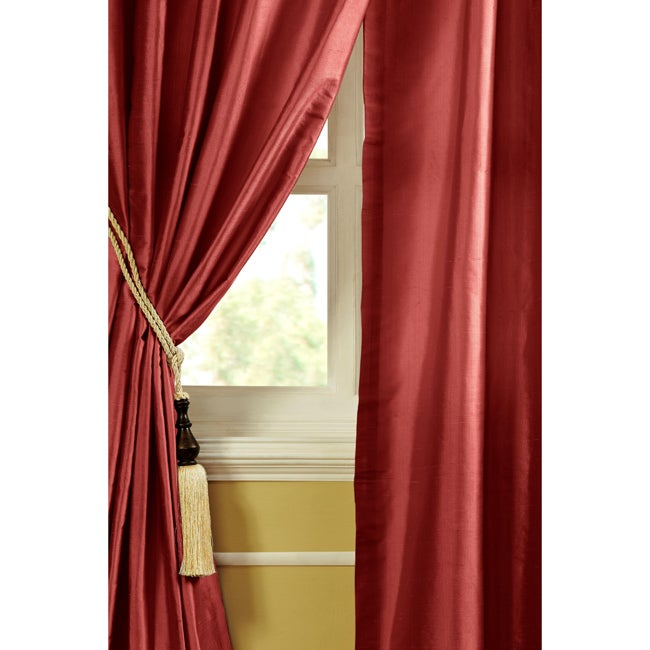ruby dupioni silk 84 inch curtain panel free shipping