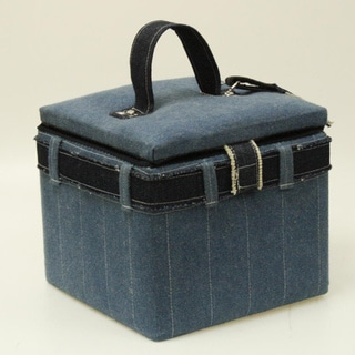 Suzy's Denim Medium Sewing Box