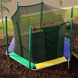 Magic Circle 12 ft Hexagon Trampoline with Safety Cage