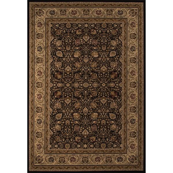 """Westminster Kashan Black Power-Loomed Rug (3'11"""" x 5'7"""")"""