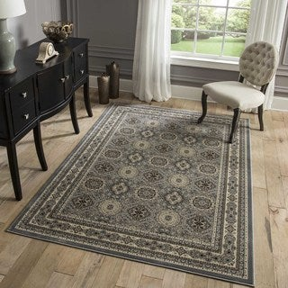 "Westminster Tabriz Brown Panel Power-Loomed Rug (11'3"" x 15')"