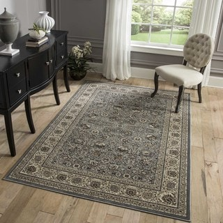 "Westminster Kashan Black Power-Loomed Rug (2'3"" x 7'10"")"