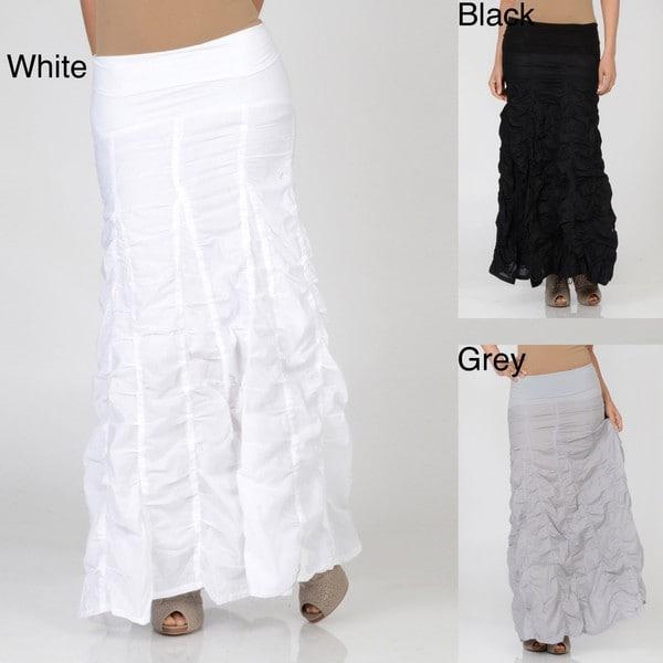 Elan Women's Long Voile Bubble Skirt