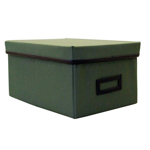 Decorative Canvas Lidded Storage Box (6u0027 X 11.625u0027 X 8.375u0027)   Free  Shipping On Orders Over $45   Overstock.com   13698012