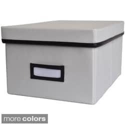 Decorative Canvas Lidded Storage Box (6' x 11.625' x 8.375')