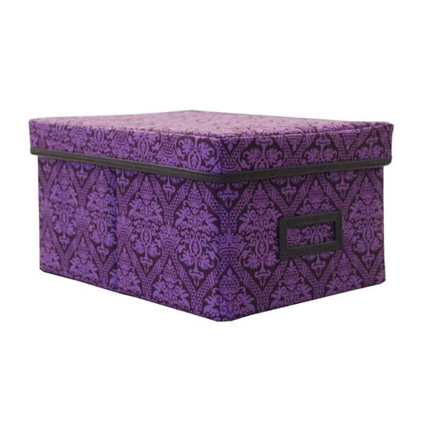 Decorative Canvas Lidded Storage Box (6u0027 X 11.625u0027 ...