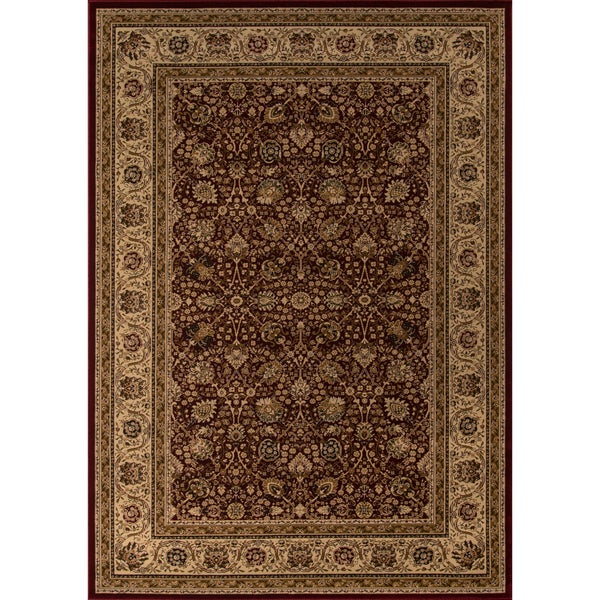 "Westminster Kashan Red Power-Loomed Rug (2' x 3'3"")"