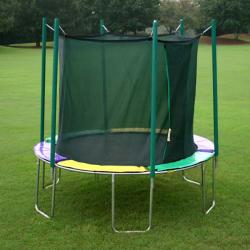 Magic Circle 12-foot Round Trampoline with Safety Cage - Green/Black
