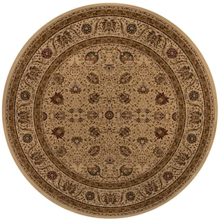 "Westminster Kashan Ivory Power-Loomed Rug (7'10"" x 7'10"" Round)"