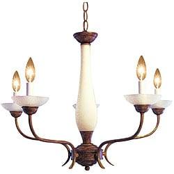 Woodbridge Lighting 5-light Harvest Gold Chandelier