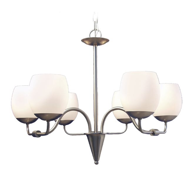 Woodbridge Lighting Soho 6-light Satin Nickel Chandelier