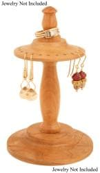 Cherry Wood Spindle Jewelry Stand
