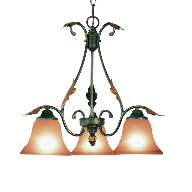 Woodbridge Lighting Easton 3-light Coffee Downward Chandelier