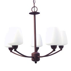 Woodbridge Lighting Copenhagen 5-light Textured Coffee Chandelier