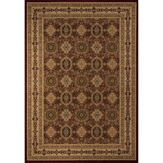 Westminster Tabriz Red Panel Area Rug (5'3 x 7'7)