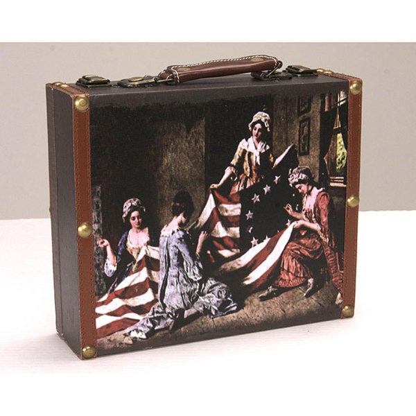 Vintage American Flag Notions Box