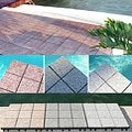 Jointstone Interlocking Granite Decktiles, Box of 6 Tiles to cover 6sf. Perfect For Outdoor and Indoor Use.