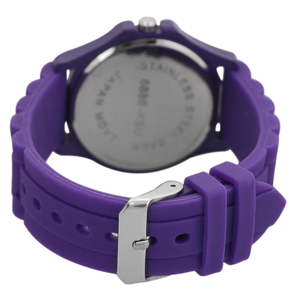 Geneva Women's Platinum Rhinestone Kansas State Wildcats Watch