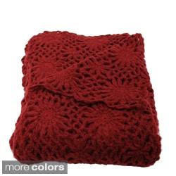 Helen Crochet Floral Throw