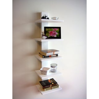 Spine Wall White Book Shelves