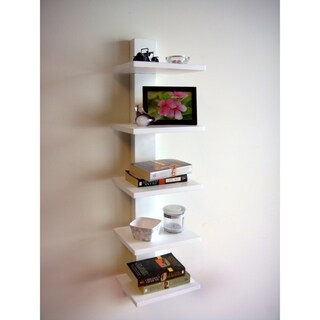 Spine Wall White Book Shelves