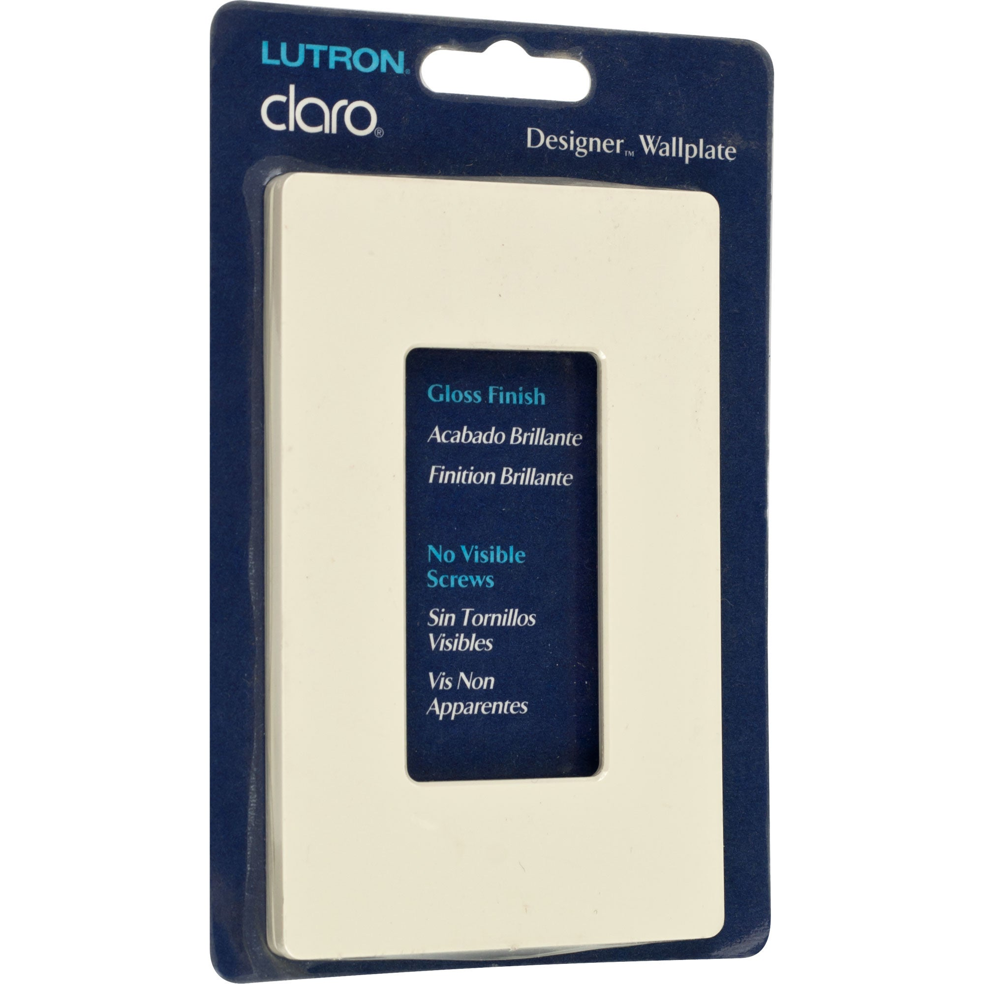 Lutron Claro Gloss Almond Single-gang Rocker Wallplates (Set of 8)