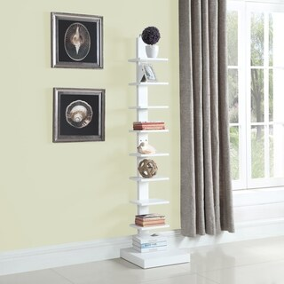Spine Standing Book Shelves/ White