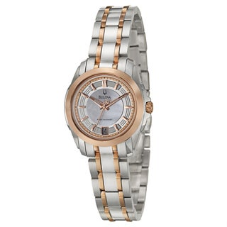 Bulova Precisionist Women's 'Longwood' Two-tone Stainless Steel Watch