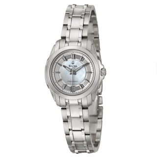 Bulova Women's 96M108 Precisionist 'Longwood' Mother of Pearl Dial Watch