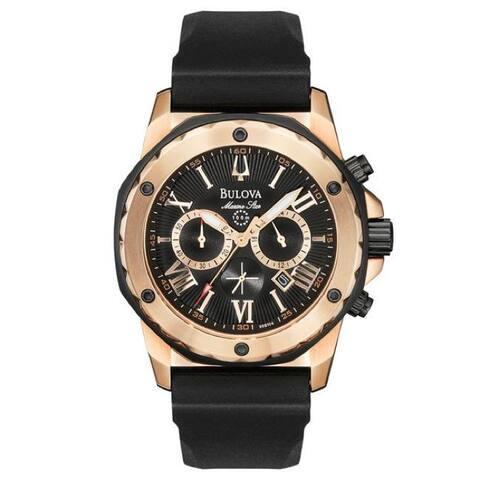 Bulova Men's 'Marine Star' Rose Goldtone Chronograph Watch