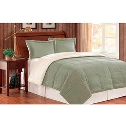 Premier Comfort Reversible Twin-size 2-piece Down Alternative Comforter and Sham Set