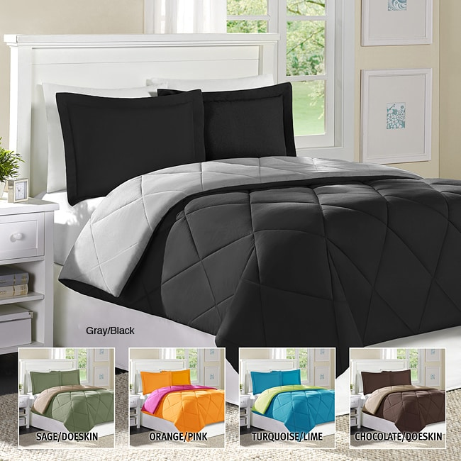 Home Essence Columbine King-size 3-piece Down Alternative Comforter and Sham Set