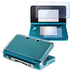 INSTEN Clear Protector Case Cover with Screen Protector for Nintendo 3DS