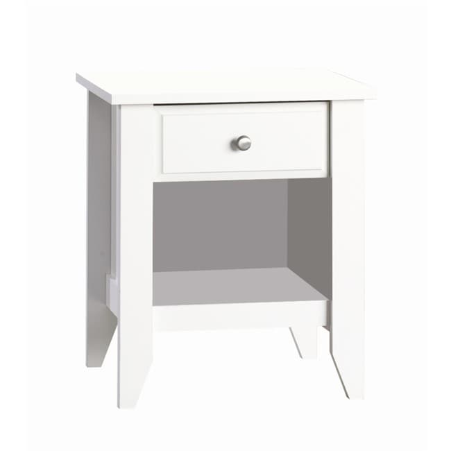Shoal Creek Matte White Night Stand 13699056 Overstock
