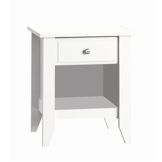 Shoal Creek Matte White Nightstand