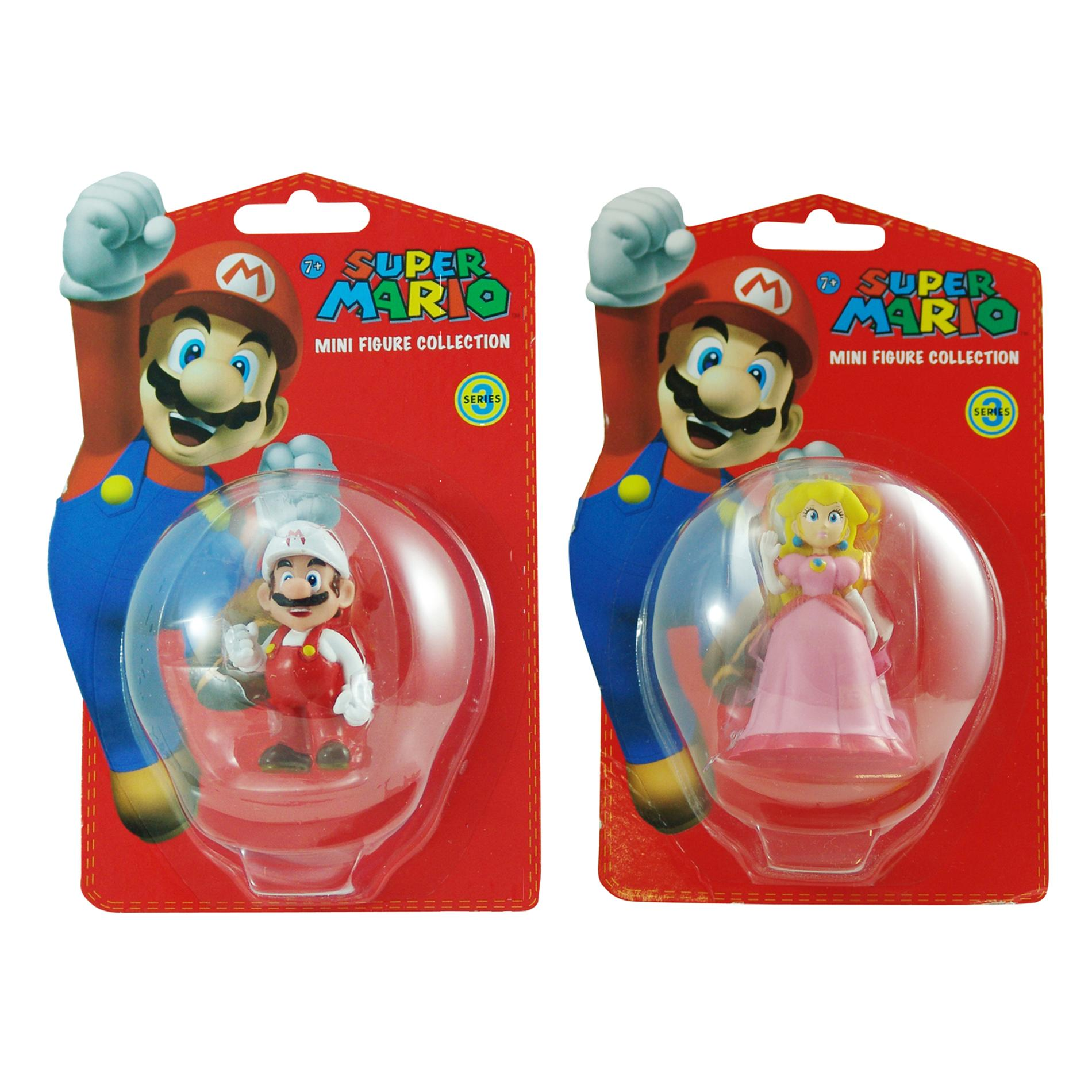 Super Mario Brothers Mario and Peach Figurine Bundle - Thumbnail 0