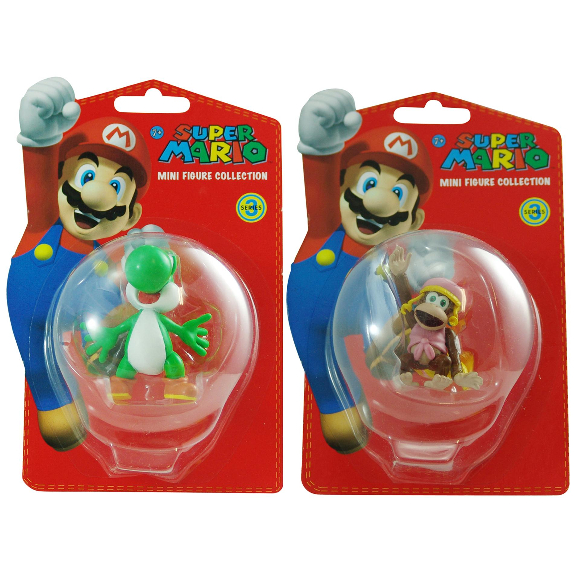 Super Mario Brothers Yoshi and Dixie Kong Figurine Bundle - Thumbnail 0