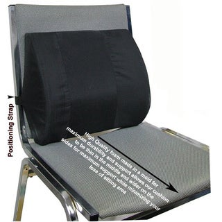 Current Solutions Seat Back Elastic Strap Lumbar Cushion