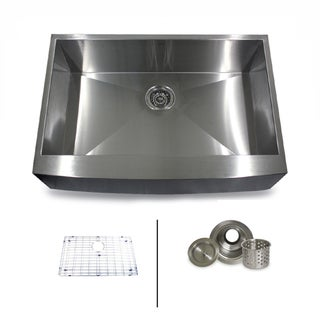 Highpoint Collection 33-inch Stainless Steel Farmhouse Kitchen Sink