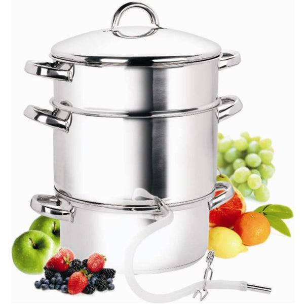 Cook N Home 11-Quart Stainless Steel Fruit Juicer Steamer, 28cm