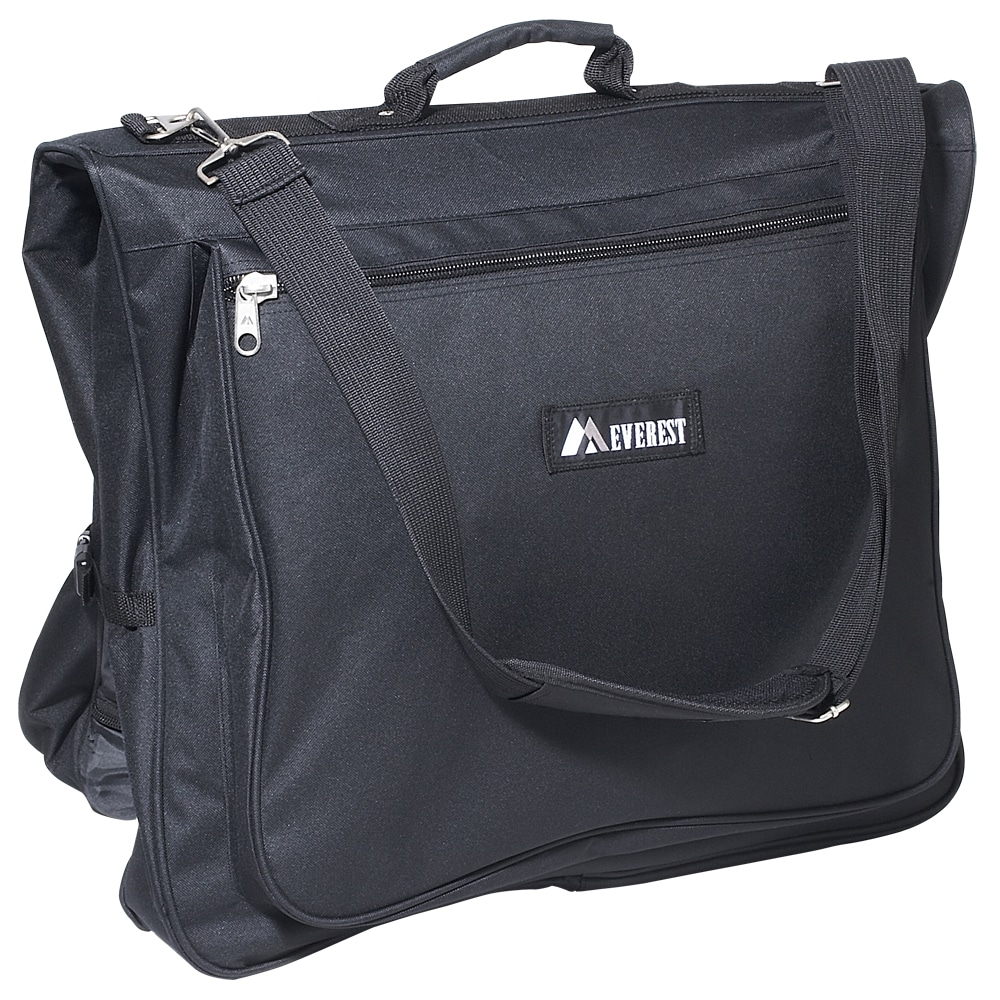 Everest Black 44-inch 600-denier Polyester Convenient Garment Bag